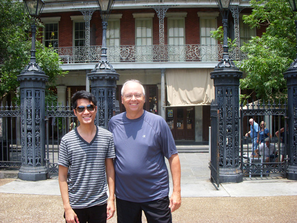 Kevin and Paul in the French Quarter.