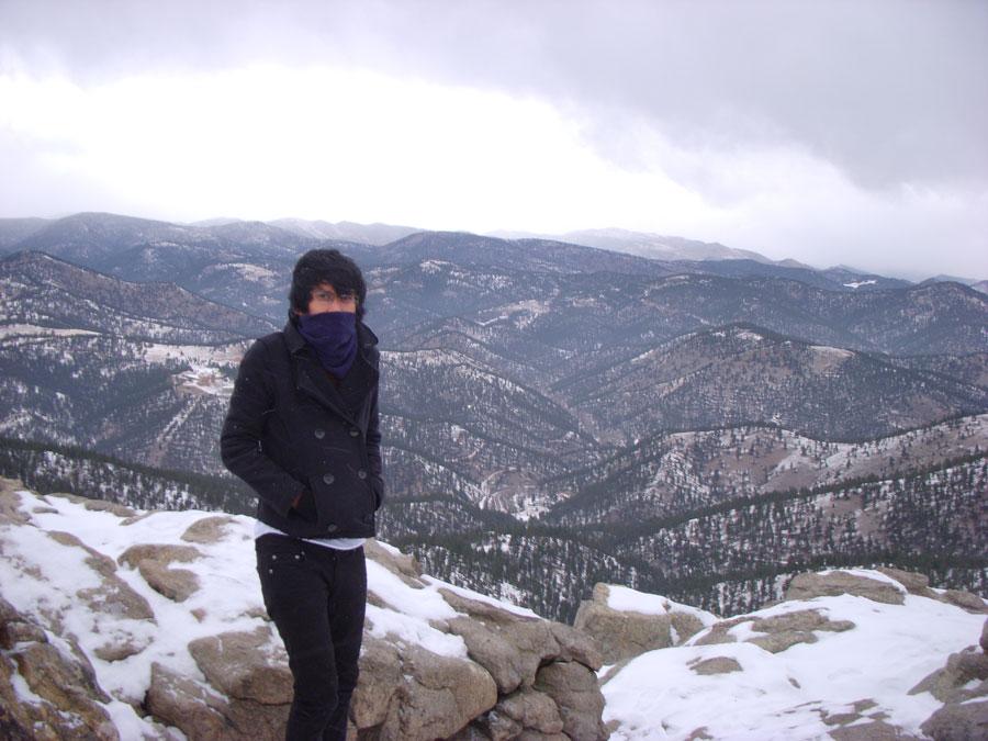 Kevin Banogon enjoys the mountain view.