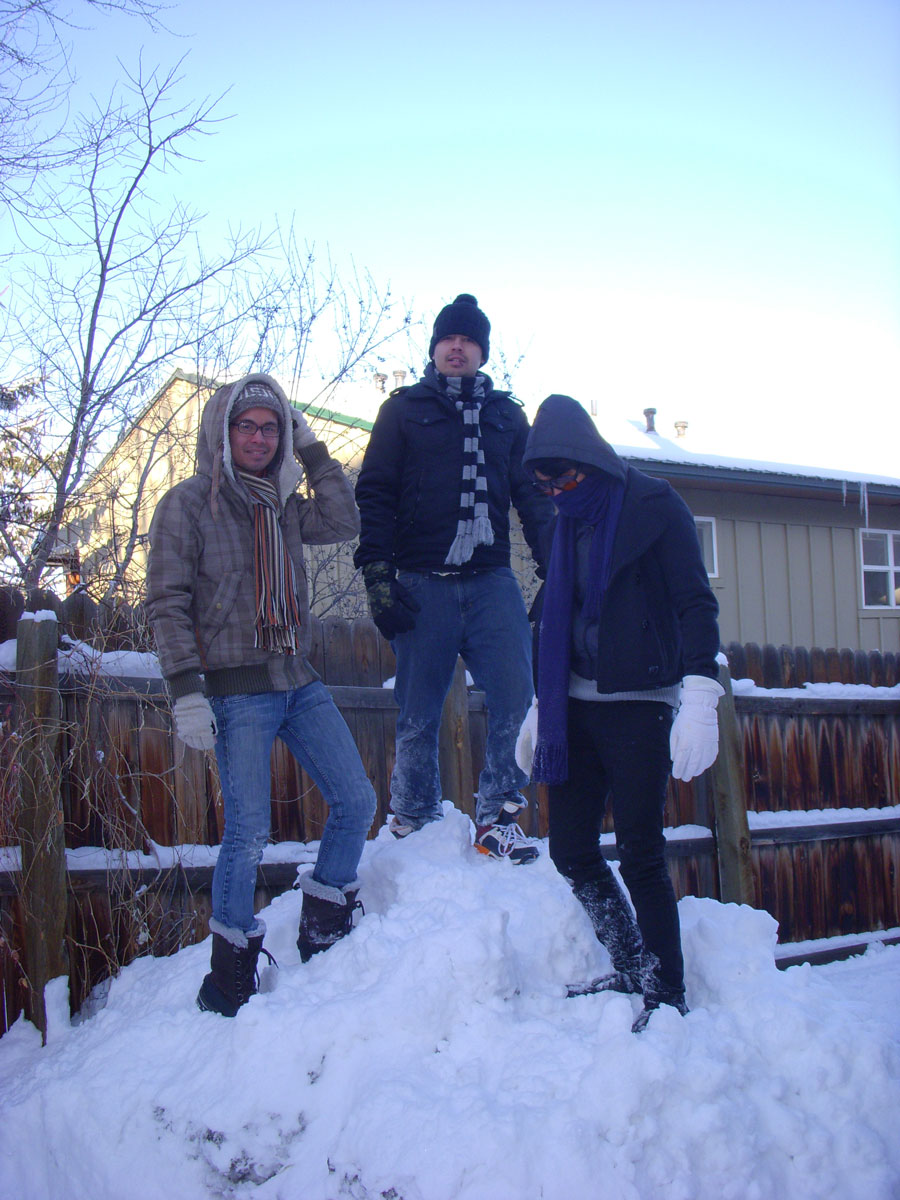 Kevin Banogon meets up with friends in Boulder, Colorado