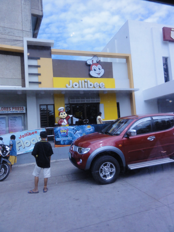 A stop at Jollibee in Dumaguete City for breakfast.