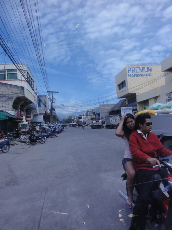 Driving through the streets of Dumaguete City.