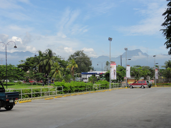 A view of Canlaon Volcano from Dumaguete City.
