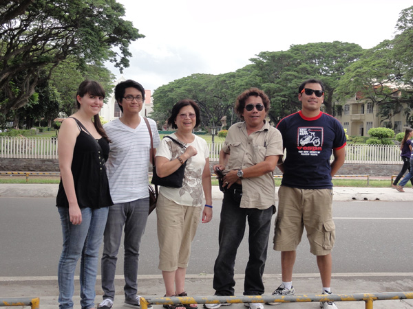 The Banogon family tour Silliman University in Dumaguete City.