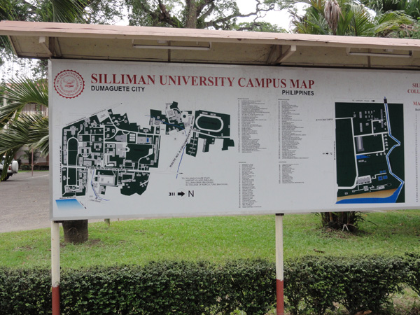 The Silliman University campus map in Dumaguete City.