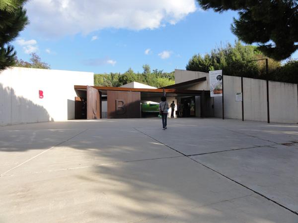The iron entrance to Jardí Botànic de Barcelona.