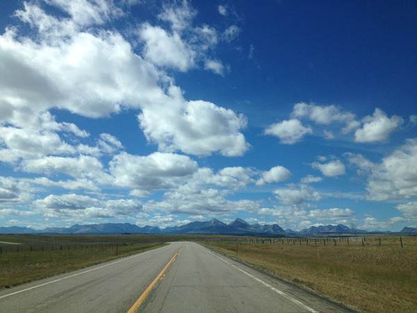 The expansive sky stretches across Big Sky Country.