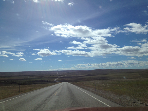 The road is long and winding throughout the western part of Montana.