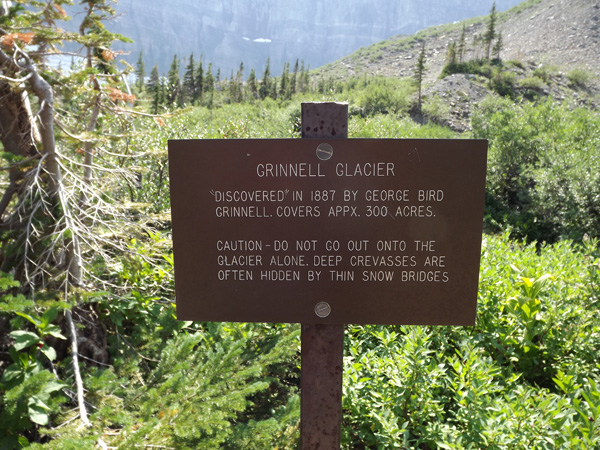 Kevin Banogon and Meredith Lambert continue their hike to Grinnell Glacier in Glacier National Park.