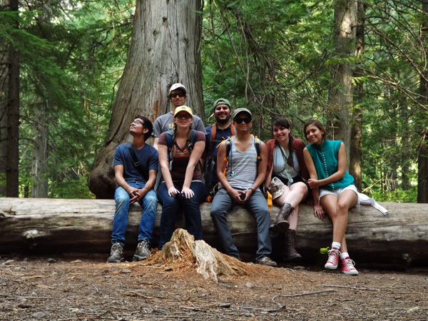 We all stopped for a moment to take in the beauty of the Trail of the Cedars in Glacier National Park.