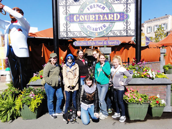 A group of New Orleans girls find the French Quarter in Orlando.