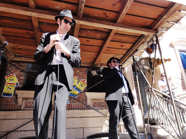 The Blues Brothers play at Universal Studio in Orlando.