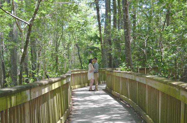 Miami travel bloggers, Kevin Banogon and Meredith Lambert get lost in the swamp of Big Cypress National Preserve.