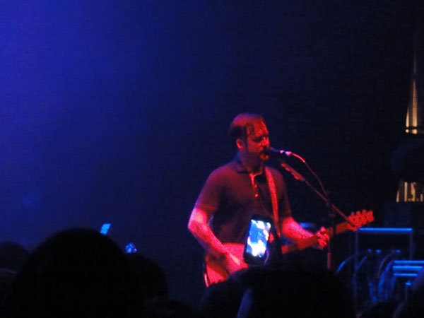 Isaac Brock passionately sings during the Modest Mouse concert on South Beach.