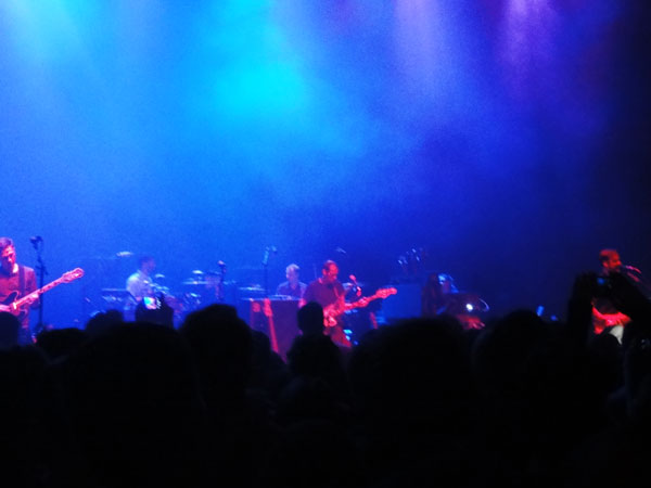 Miami travel blogger, Meredith Lambert, captures a moment with the whole band at the Modest Mouse concert at the Filmore.