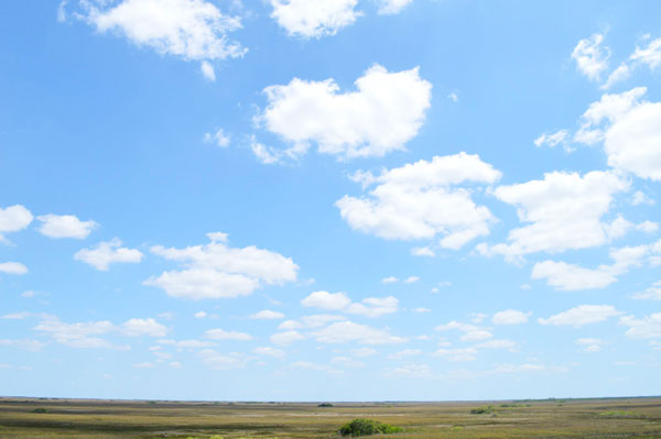The big beautiful sky above Shark Valley in the Everglades National Park.