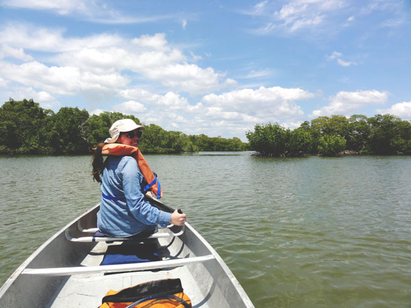 Meredith Lambert and Kevin Banogon continue their canoe trip through the Ten Thousand Islands.