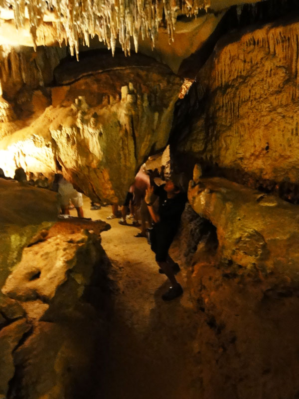 Kevin Banogon walks carefully as he moves through the Cavern at Florida Caverns State Park.