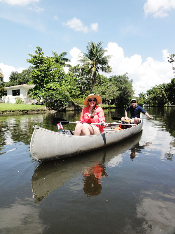 Miami travel bloggers, Meredith Lambert and Kevin Banogon, experience the adventure of urban canoeing.