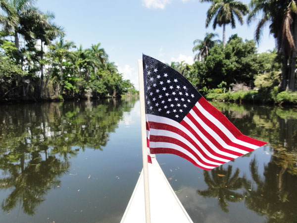Canoeing on the Fourth of July is a great way to celebrate America.