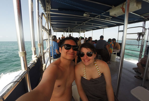Meredith Lambert and Kevin Banogon enjoyed their time snorkeling at John Pennekamp Coral Reef State Park.
