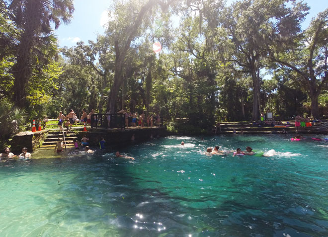 Juniper Springs on a busy and beautiful Labor Day.
