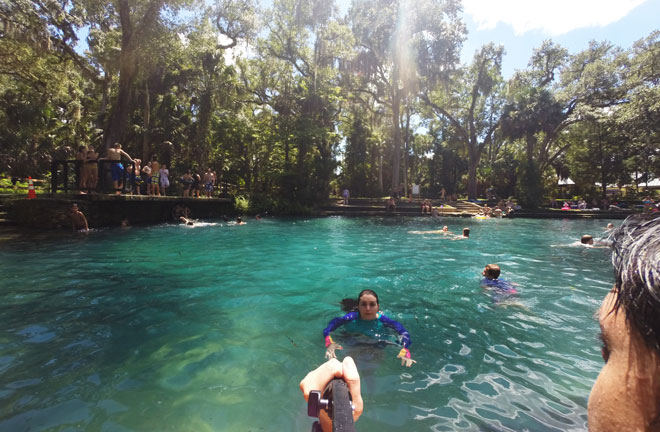 Juniper Springs has the beautiful blue water characteristic of Florida Springs.