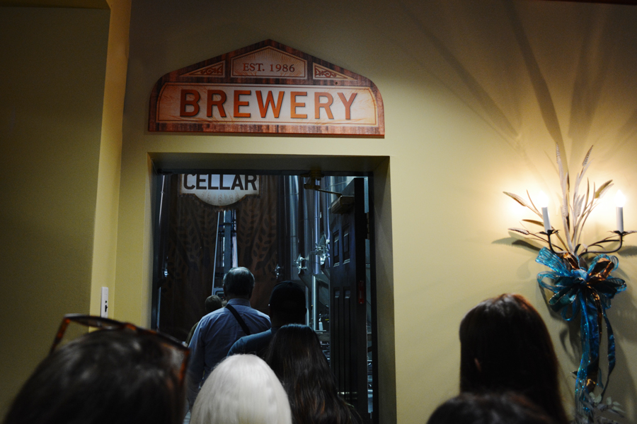Visitors begin their tour of the Abita Brewery by entering the brewing facility.