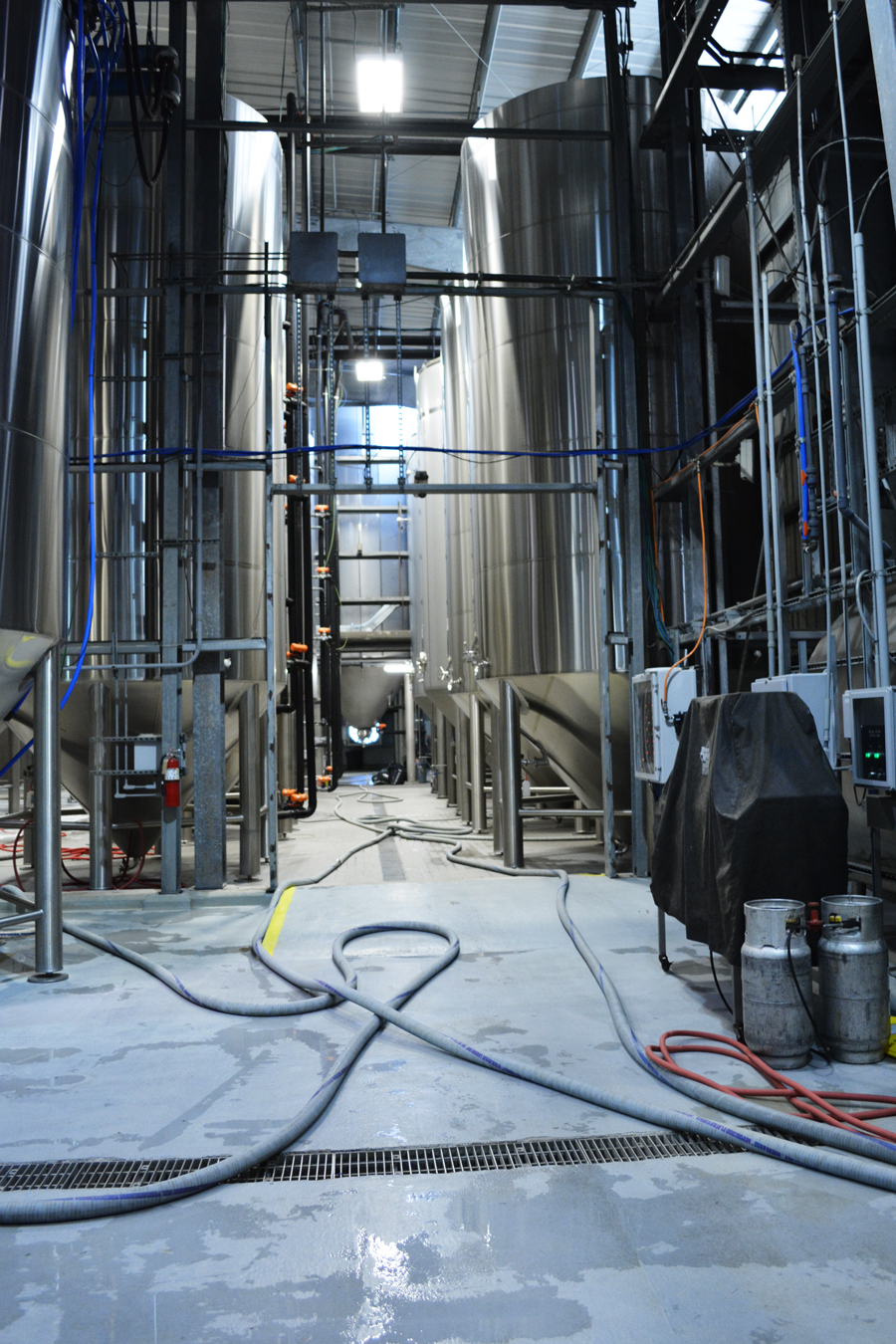 The large tanks seen as part of the Abita Brewery Tour.