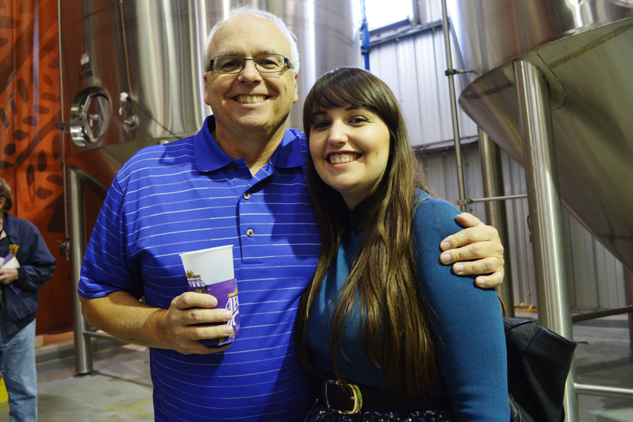 Meredith Lambert and Paul Lambert enjoy their tour of the Abita Brewery.