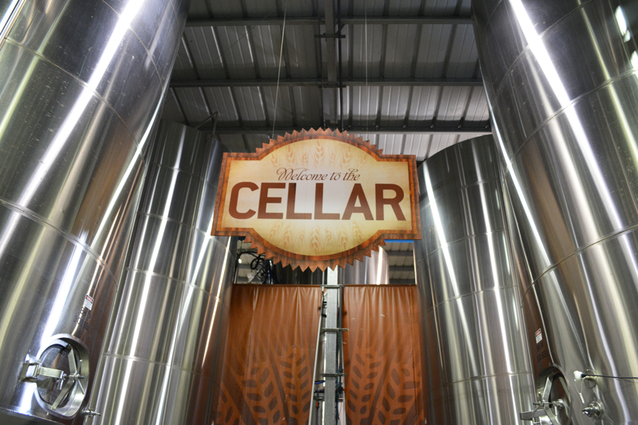 Visitors to the Abita Brewery enter the area of the facility known as the Cellar.