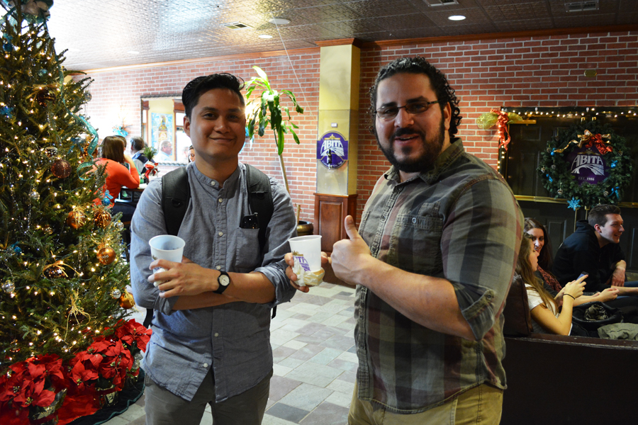 Kevin Banogon and Gerry Cabrera had a good time at the Abita Brewery Tour.