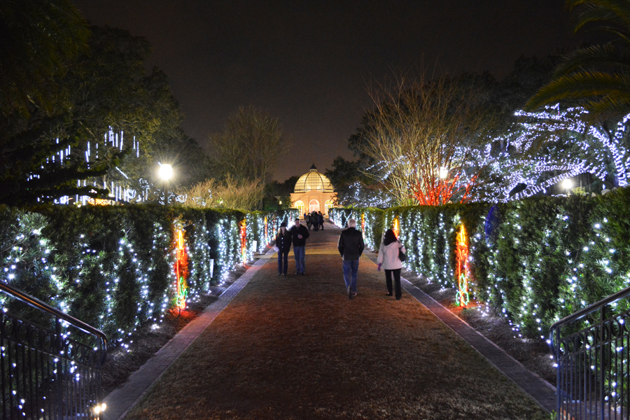 Visitors enjoy the beauty of Celebration in the Oaks in New Orleans' City Park.