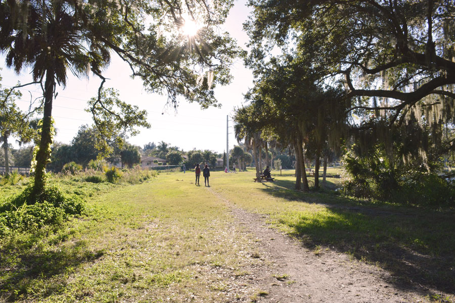 The open fields of the Red Bug Slough are a hidden gem in Sarasota, Florida.