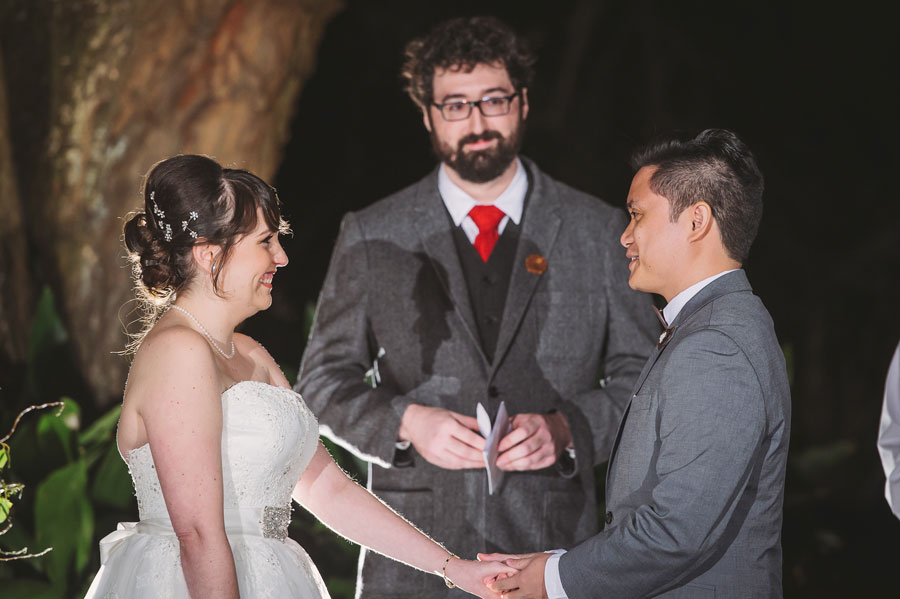 Kevin Banogon and Meredith Lambert had a friend officiate their wedding at Vintage Court in Covington, Louisiana.