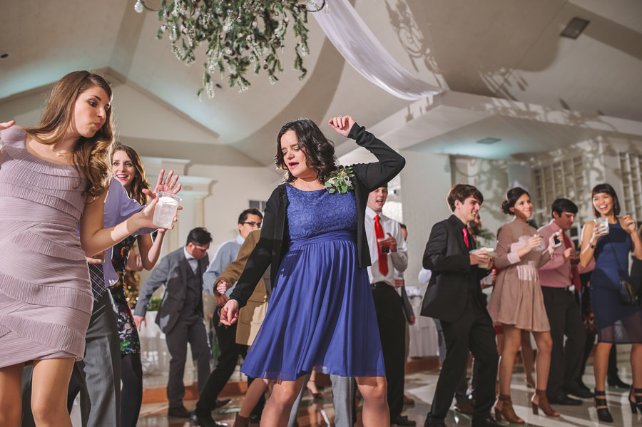 The Mother of the Bride dances the night away at a wedding at Vintage Court in Covington, LA.
