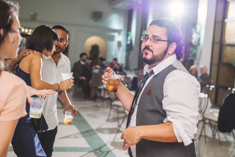 Gerry Cabrera caught in action on the dance floor at the Merevin wedding at Vintage Court in Covington.