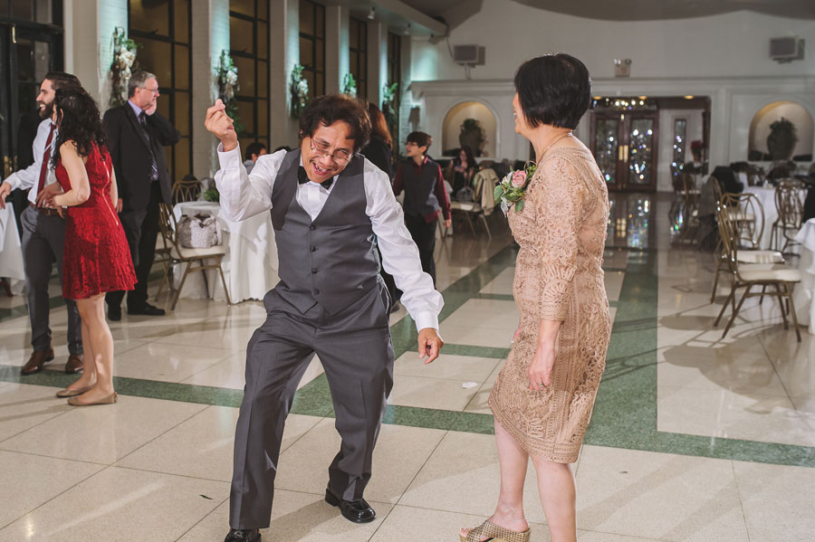 Kevin's father breaks it down on the dance floor at Vintage Court in Covington, LA.