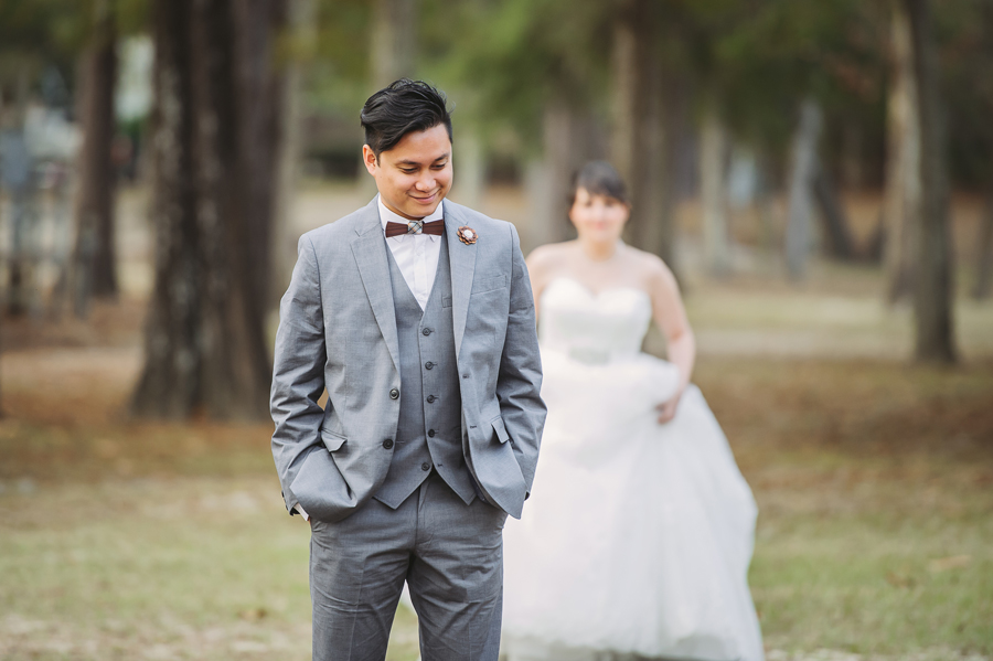 Kevin Banogon and Meredith Lambert have their first look photos in Bogue Falaya Park in Covington.