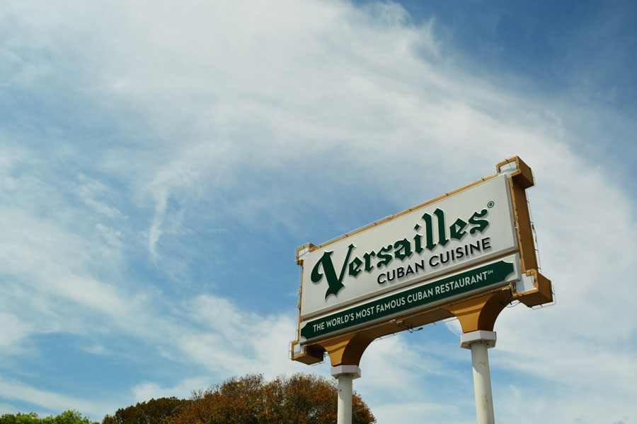 Versailles Restaurant on Calle Ocho in Miami, Florida is a famous spot for Cuban Breakfast.