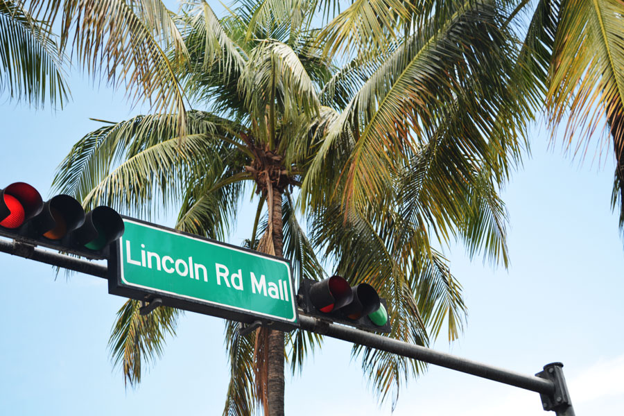 An iconic look at Lincoln Road on Miami Beach.
