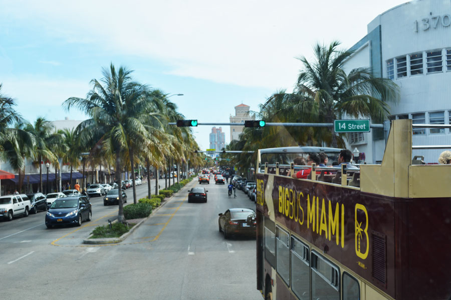 The Big Bus Miami was a great way to say goodbye to Miami during a going away party.