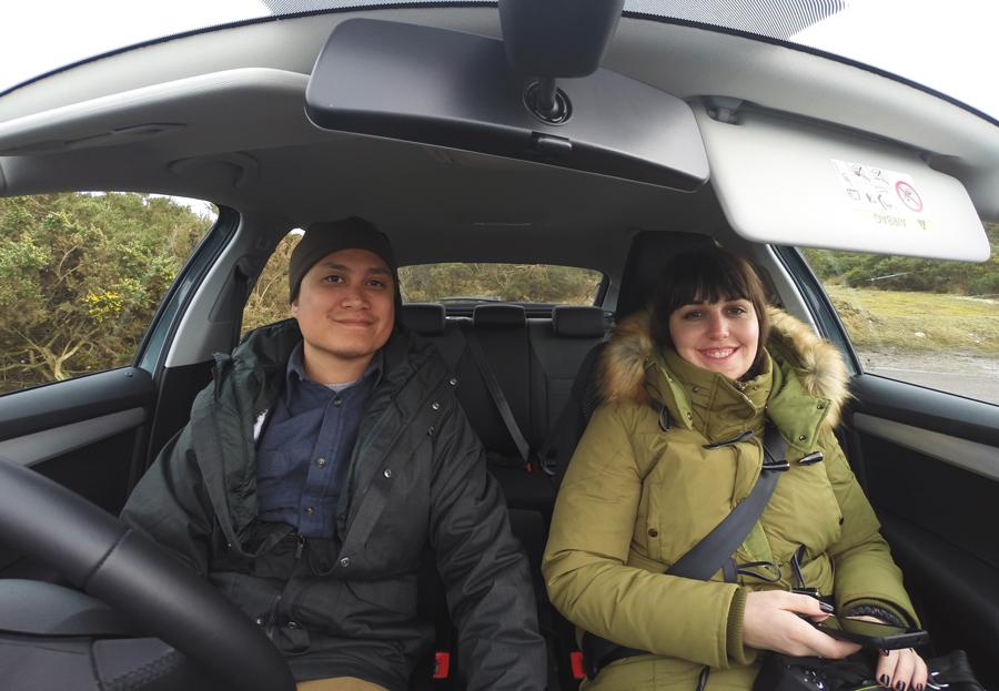Meredith Lambert Banogon and Kevin Banogon road trip through Scotland on their honeymoon.