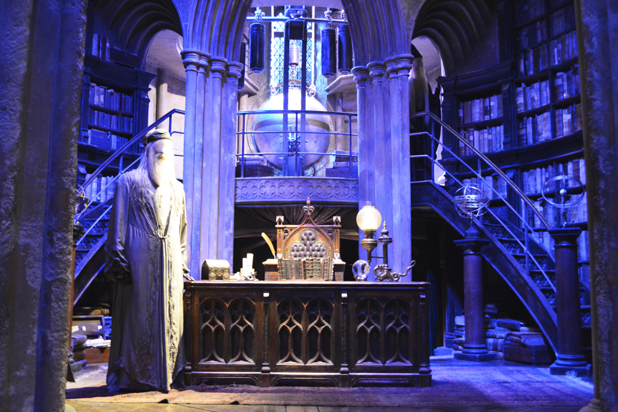 The set for Dumbledore's office used throughout the Harry Potter movies at the Harry Potter Leavesden studio tour.