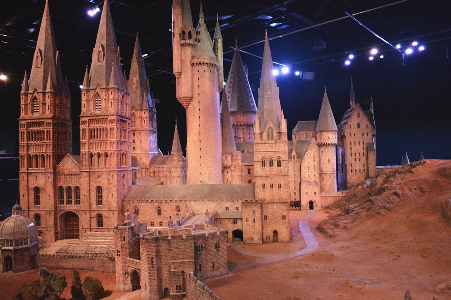 The amazing model of Hogwarts at the Harry Potter Studio Tour in London, England.