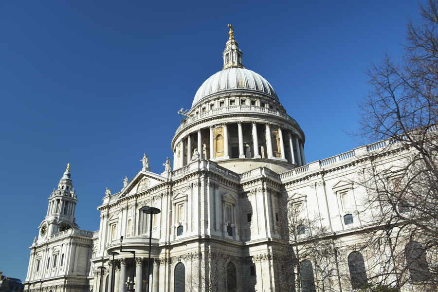 St. Paul's Cathedral at the heart of the city of ancient London.