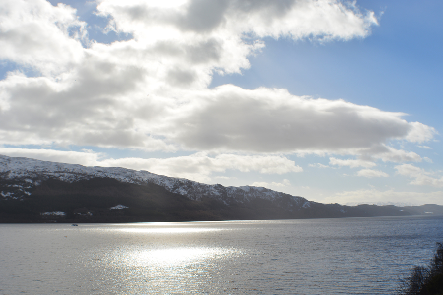 The scenic view over Loch Ness while on a road trip to the Isle of Skye.