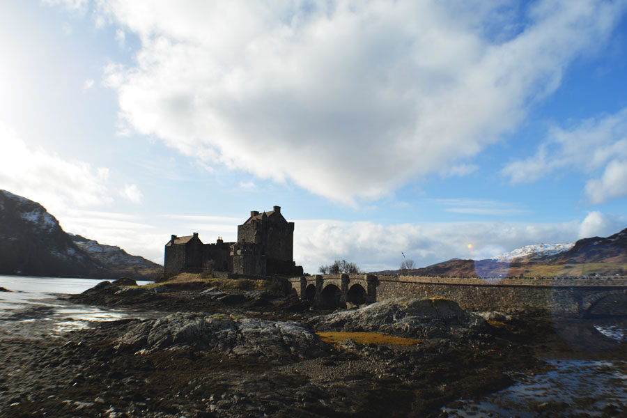 Eilean Donan Castle is nestled in the Highlands of Scotland where it served as a set for Braveheart.