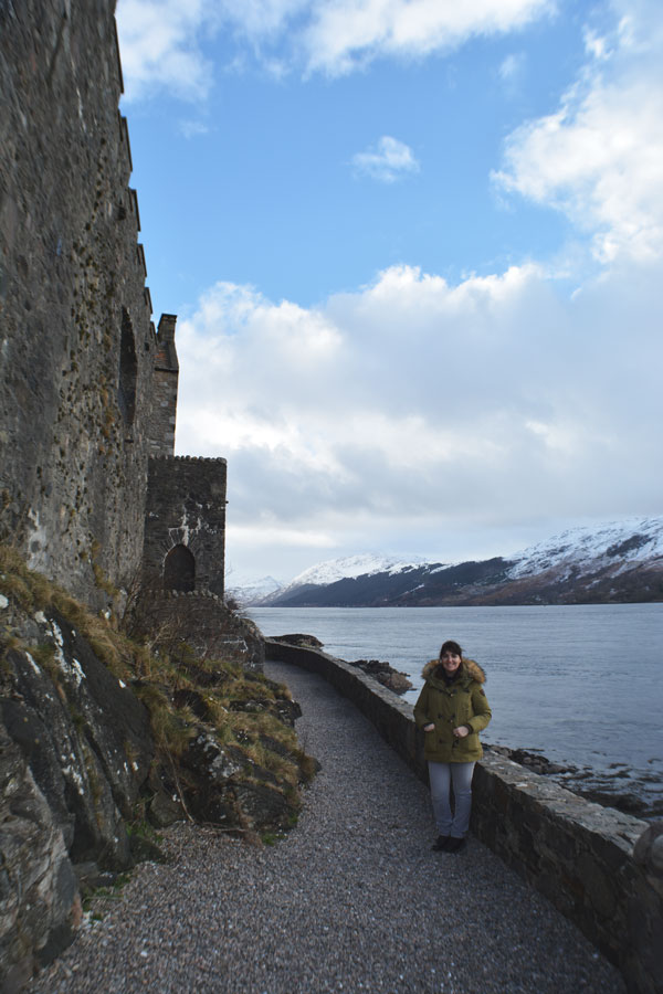Meredith Lambert Banogon takes in the endless view around the Eilean Donan Castle during low tide.