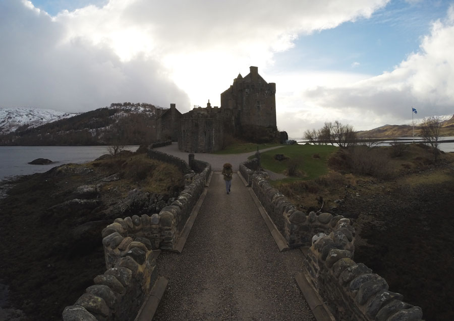 Meredith Lambert Banogon explores the Eilean Donan Castle during her honeymoon in Scotland.
