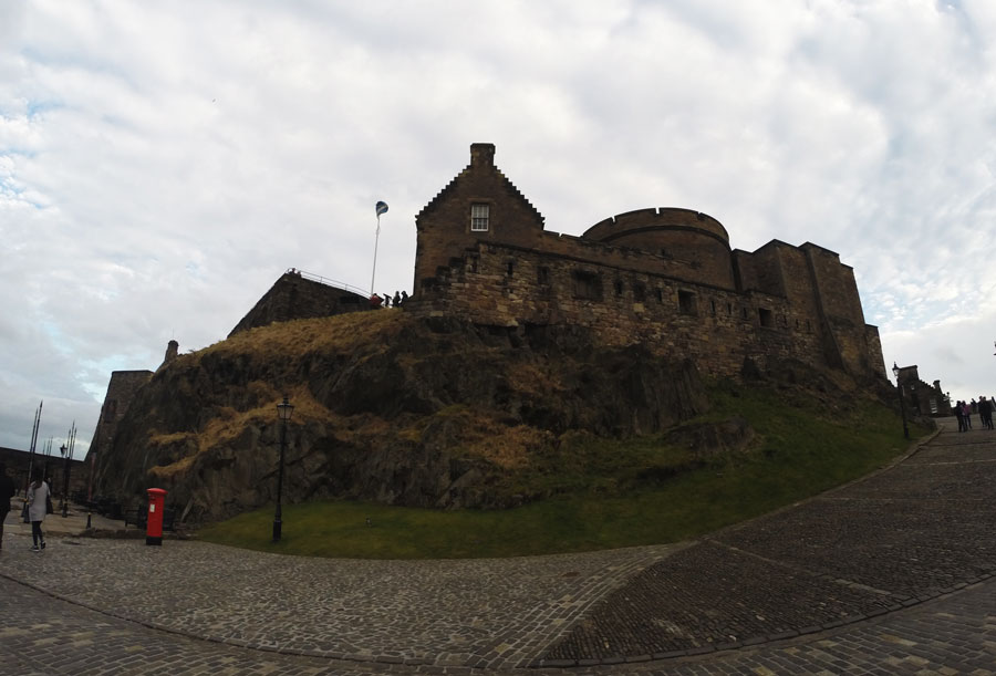The inner section of the Edinburgh Castle is the oldest part of the structure.
